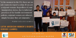LAWRS Community Activist WARMI 16 Days of Action 2019