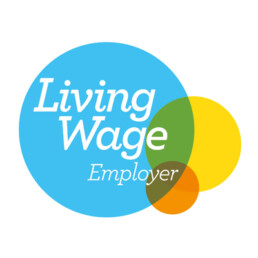 LAWRS Latin American Women's Rights Service Living Wage Employer Logo